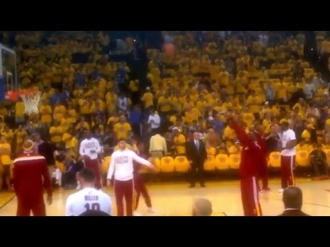 2015 NBA Finals, Game 5, Warriors v Cavaliers w/LeBron James warmup (Sunday, June 14, 2015)