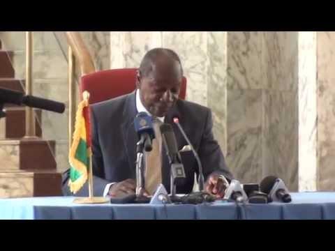 Energie, lors de la conférence de presse du président Condé/Guineematin