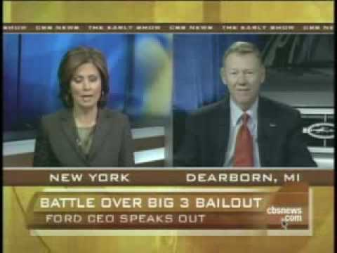Alan Mulally (Ford CEO) and Obama on auto crisis