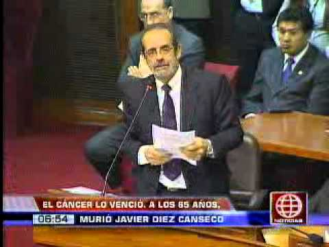 Amrica Noticias - 050513 - A los 65 aos, falleci Javier Diez Canseco