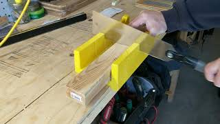 Miter box and a Pull Saw