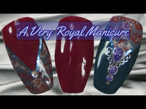 A Very Royal Manicure using Canni Gel Paint & Canni Starry Gel