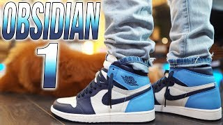 2019 AIR JORDAN 1 OBSIDIAN UNIVERSITY BLUE REVIEW ON FOOT !!!