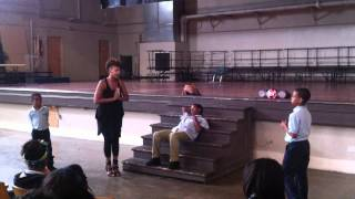 Opera singer Lauren Criddle performs at Behrman Charter Academy