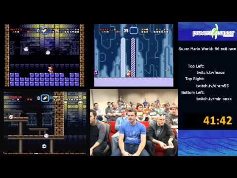 Super Mario World Speed Run Race (96-exit) in 1:32:01 (AGDQ 2013) Super NES