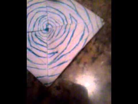 Ilusão de ótica:espiral maluca