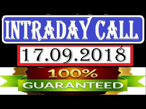 IntraDay Top 3 Jackpot Call 17.09.2018 || today stock || intraday || best stock for 2018