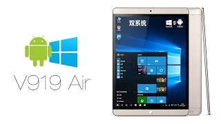 "ONDA V919 Air 9.7"" Retina Screen Windows 10 Android 4.4 Dual OS Z3735F Tablet PC w/ Bluetooth HDMI"