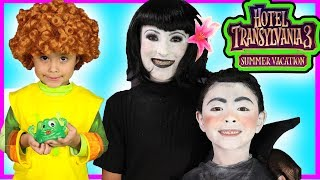 Hotel Transylvania 3 Make-up Tutorial Mavis  Costumes video for kids Dracula and Dennis toys