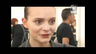 Top Model Nimue Smit Interview about her shows for Calvin Klein, D&G, Armani and more