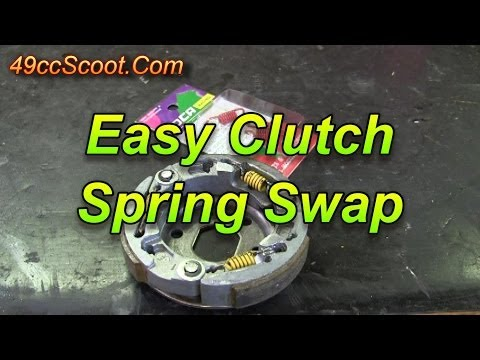 Easy Clutch Spring Installation For 50cc Scooters : 139QMB GY6 50 How-To