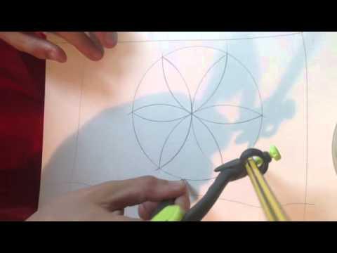 Faire une rosace r aliser une rosace avec un compas youtube - Comment faire une rosace trilobee ...