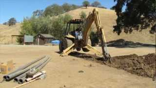 Backhoe Basics - How to Install an Underground Water Line