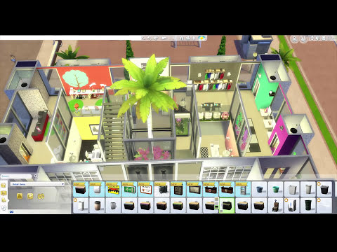 The Sims 4 Get to Work Speed Build — The Mall — Part 2