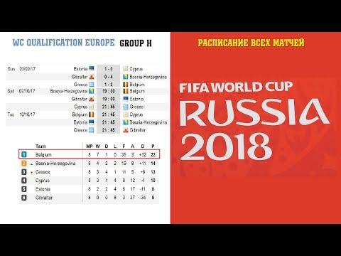 Чемпионат мира по футболу 2018 отбор. Расписание всех матчей. Европа, Южная и Сев. Америка, Африка.