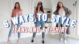 How To Style Jeans And A T-Shirt | Everyday Outfit Ideas