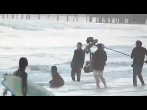 Christian Bale & Freida Pinto Filming