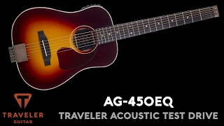Traveler Guitar AG-450EQ Acoustic Guitar Test Drive Product Demo