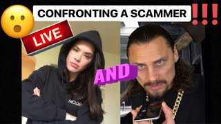 CONFRONTING A SCAMMER!! LIVE  (w/Art as my bodyguard!) #irlrosie #trilogymedia #scambaiting