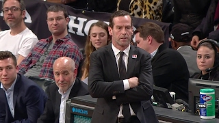 Kenny Atkinson shows off his soccer skills, gets a BS technical foul February 3, 2017