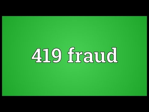 Header of 419 Fraud