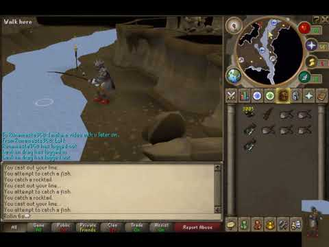 Runescape – Living Rock Caverns Guide – Fishing Rocktails with commentary
