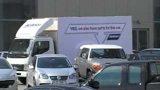 Guerrilla Marketing Example   ACDelco Interactive Moving Truck Advertisement