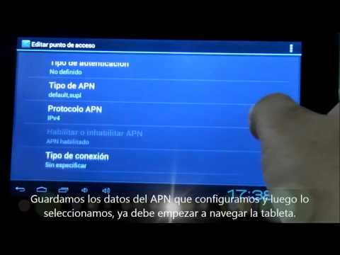 Video como configurar red celular y solucion de problemas de conexion tabletas chinas con simcard