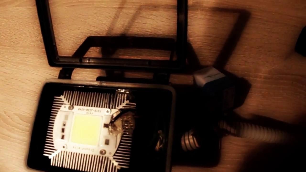 Как собрать светодиодный прожектор своими руками 64