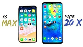 iPhone XS Max vs Huawei Mate 20 X Speed Test!