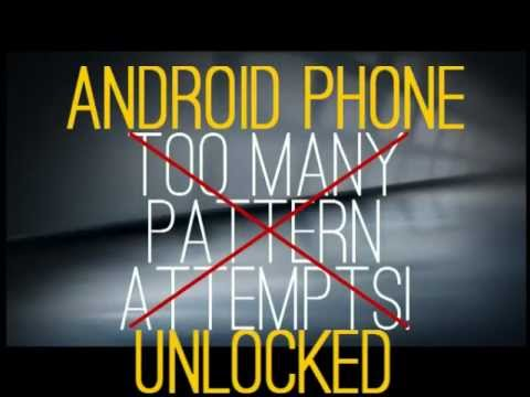 Unlock Android Phones After Too Many Pattern Attempts [airplane Mode] Without Factory Reset. video