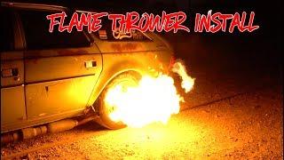 Flamethrower install on an AMC Hornet!