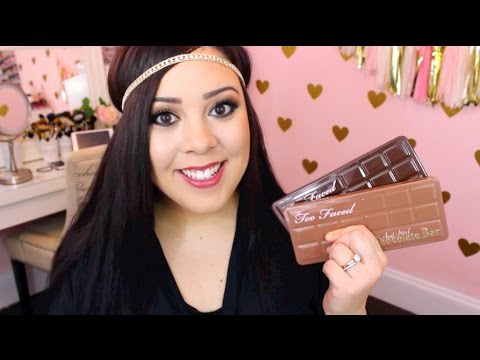 *NEW* Too Faced Semi Sweet Chocolate Bar Palette   Review. Swatches. and Comparison