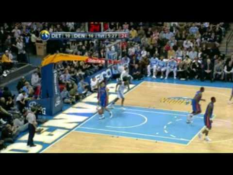 Allen Iverson 23pts vs C.Billups Nuggets 08/09 NBA *Return to Denver *Standing ovation*Must see