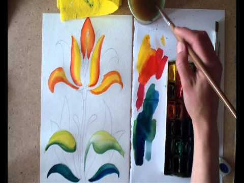 Видео как нарисовать Аленький цветочек поэтапно