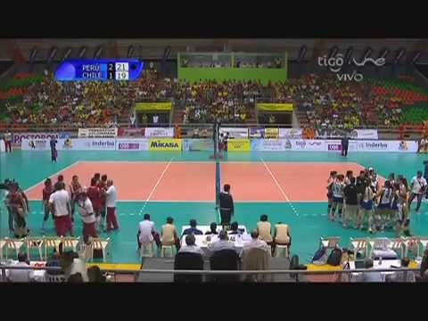 Campeonato Sudamericano de Voleibol Femenino Juvenil 2014 - Match #1: Perú vs. Chile