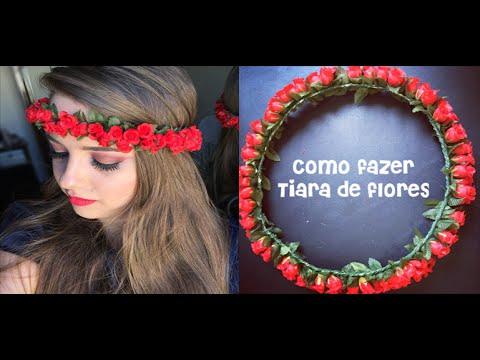 Como Fazer Tiara De Flores (super Fácil), Por Raiane Sequeto video