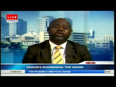 Sanusi's Suspension: President's Action Is Not Wrong -- Awonusi PT2