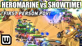 Starcraft 2 IEM Katowice 2020 | Heromarine vs Showtime - First Person POV!