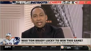 ESPN FIRST TAKE | Was Tom Brady lucky to win this game?