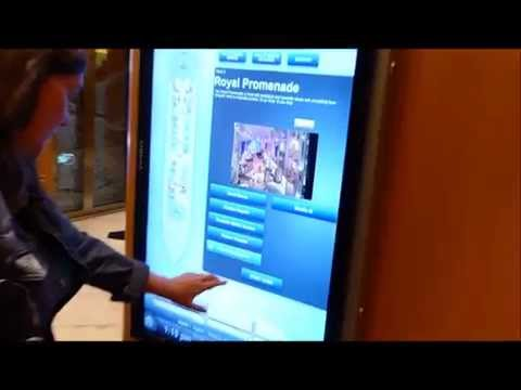 Digital Wayfinding on a Royal Caribbean cruise