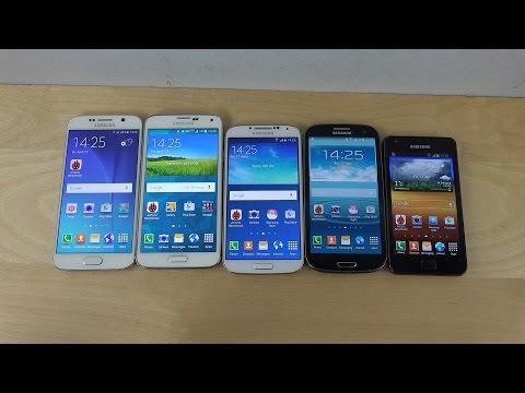 Samsung Galaxy S6 vs. Galaxy S5 vs. Galaxy S4 vs. Galaxy S3 vs. Galaxy S2 - Benchmark Speed Test!