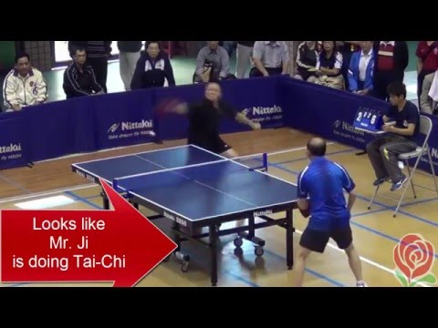 Mr Ji,  Pong Master of Redirection (TaiChi Style Table Tennis)