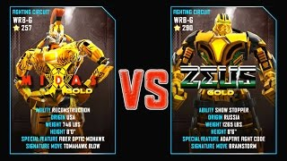 REAL STEEL WRB Midas Gold VS Zeus Gold New Robots GOLD UPDATE (Живая сталь)