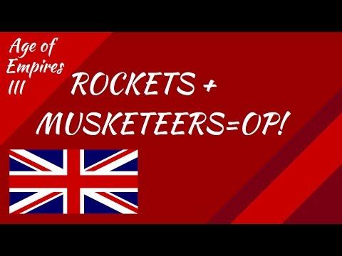 Age of Empires III: Musketeers + Rockets = OP