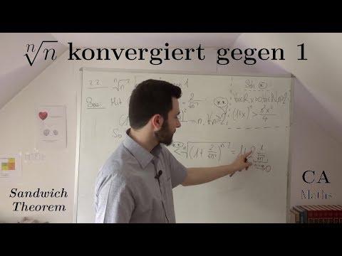 n-te Wurzel aus n konvergiert gegen 1 - Beweis (Analysis)
