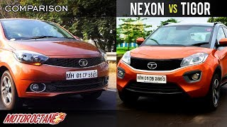 Tata Nexon vs Tata Tigor Comparison | Hindi | MotorOctane