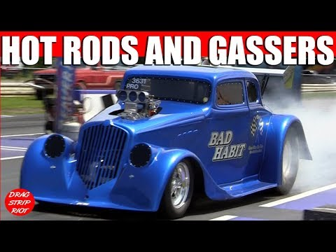 2012 Gasser Reunion Hot Rod Nostalgia 1/4 Mile Drag Racing Cars Video