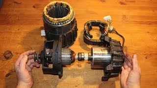 Salvage a Big Electric Motor and Transmission from a Miele Washing Machine