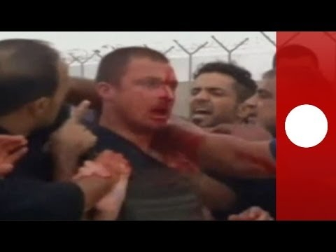 Graphic footage: Angry Shi'ites beat up foreign security advisor in Iraq Rumaila oilfield